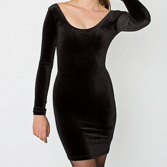 Bcbgeneration Dresses Long Sleeve Velvet Bodycon Dress Poshmark
